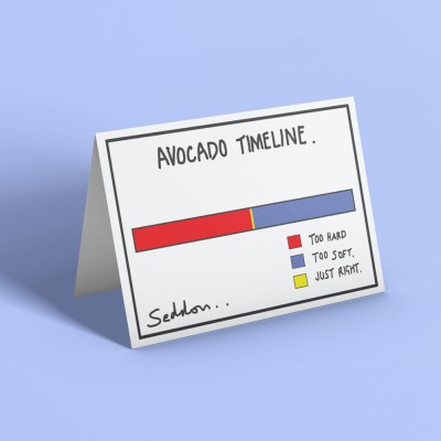 Avocado Timeline Greetings Card