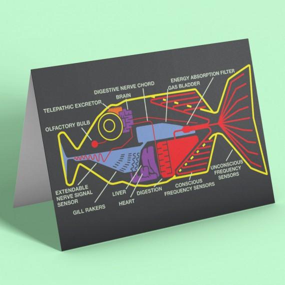 Babel Fish Greetings Card