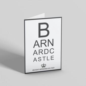 Barnard Castle Eye Test Greetings Card