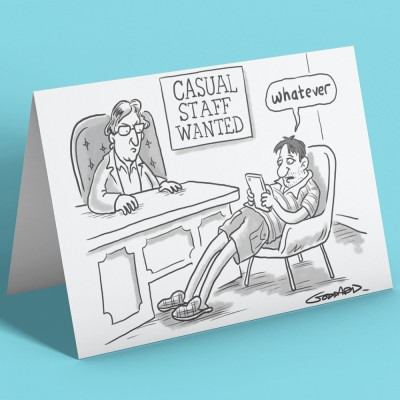Casual Staff Wanted Greetings Card