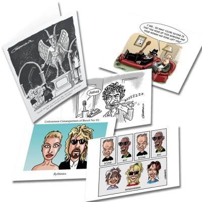Five Random Clive Goddard Greetings Cards Multipack