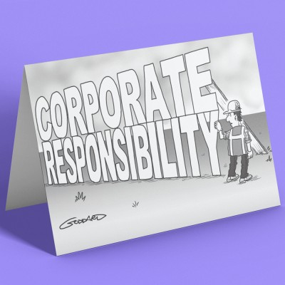Corporate Responsibility Greetings Card