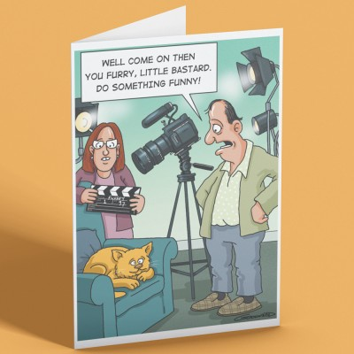Do Something Funny Greetings Card