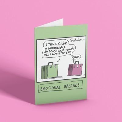 Emotional Baggage Greetings Card