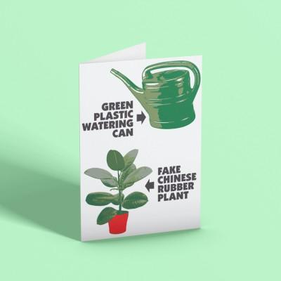Fake Plastic Trees Greetings Card