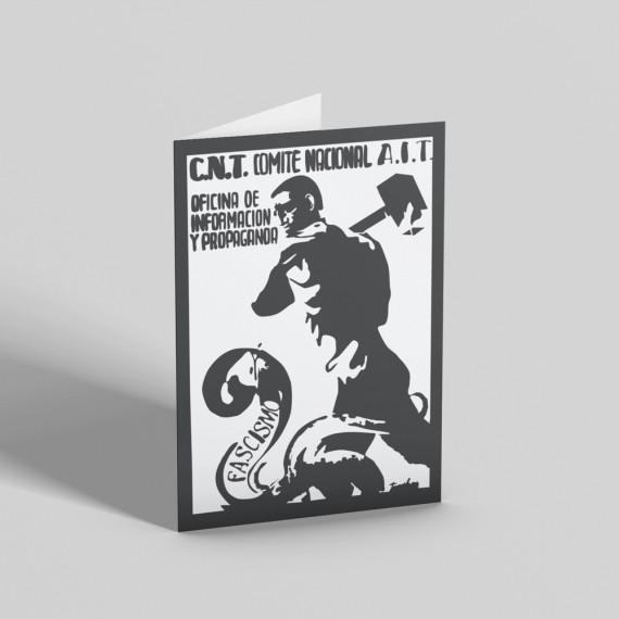 Fascist Snake Spanish Civil War Poster Greetings Card
