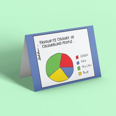 Favourite Colours Of Colourblind People Greetings Card
