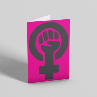 Feminist Fist Greetings Card