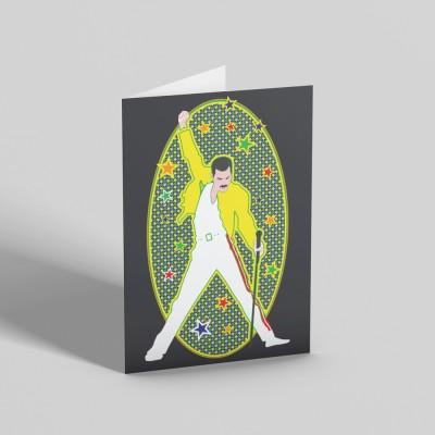 Freddie Mercury Greetings Card