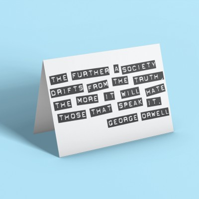 """George Orwell """"Truth"""" Quote Greetings Card"""