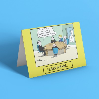 Hidden Agenda Greetings Card