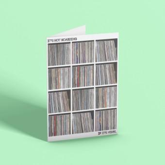 It's Not Hoarding If It's Vinyl Greetings Card