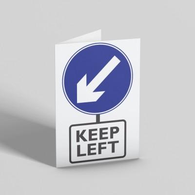 Keep Left Greetings Card