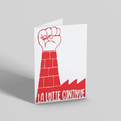 La Lutte Continue Greetings Card