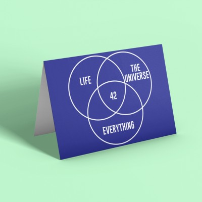 Life, The Universe, and Everything: 42 Greetings Card