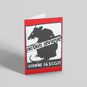 Vermine Fasciste Greetings Card
