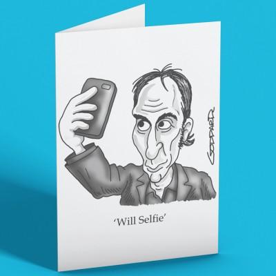 Will Selfie Greetings Card