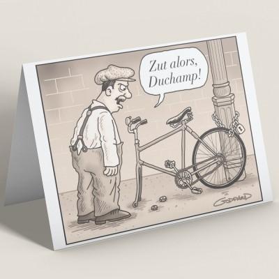 Zut Alors, Duchamp Greetings Card