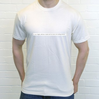 Nineteen Eighty-Four Opening Lines T-Shirt