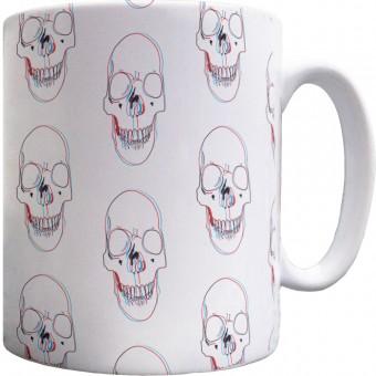 3-D Skull Pattern Mug