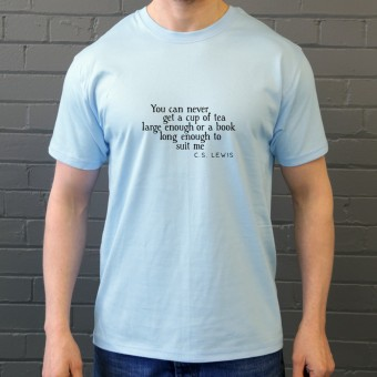 "C.S. Lewis ""A Book Long Enough"" Quote T-Shirt"