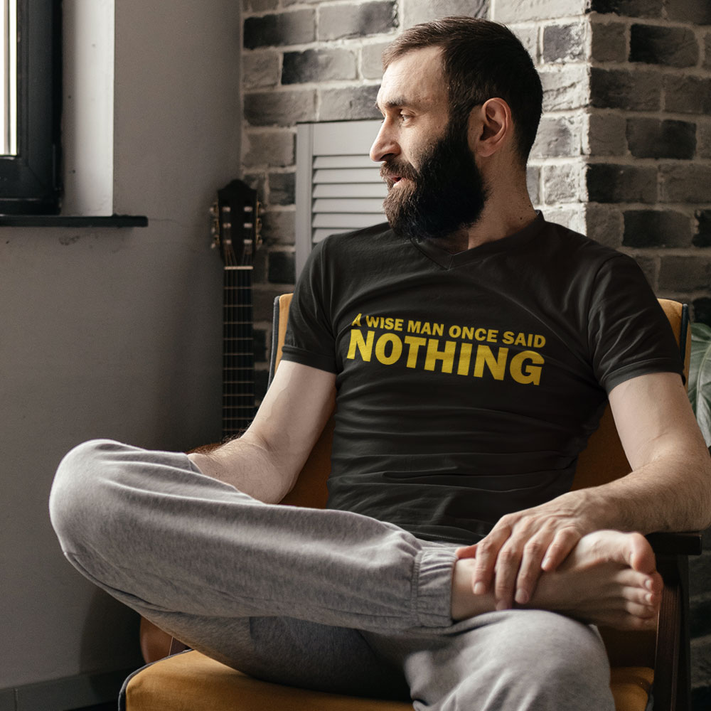 A Wise Man Once Said Nothing T Shirt Redmolotov