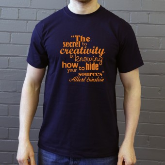 "Albert Einstein ""Creativity"" Quote T-Shirt"