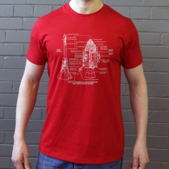 Apollo Command and Service Module Diagrams T-Shirt