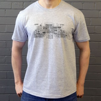 Apollo Control Panel Diagram T-Shirt