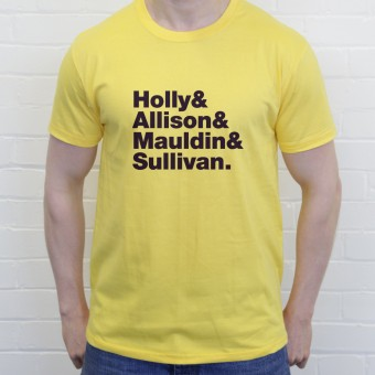 Buddy Holly and The Crickets Line-Up T-Shirt