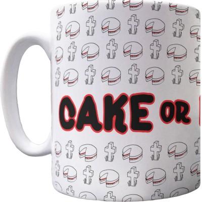 Cake or Death Pattern Mug