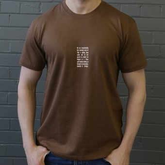 Crime and Punishment Opening Lines T-Shirt