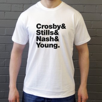 Crosby, Stills, Nash and Young Line-Up T-Shirt