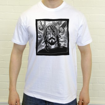 Dave Grohl Woodcut T-Shirt