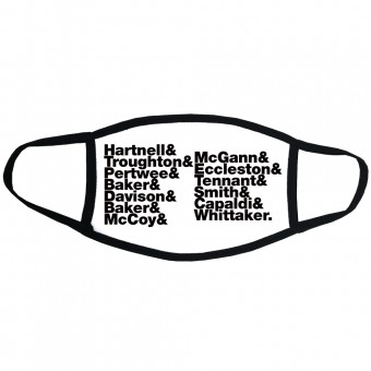 Doctor Who (Doctors) Line-Up Face Mask