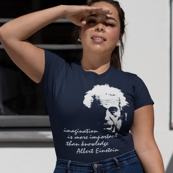 "Albert Einstein ""Imagination"" Quote T-Shirt"