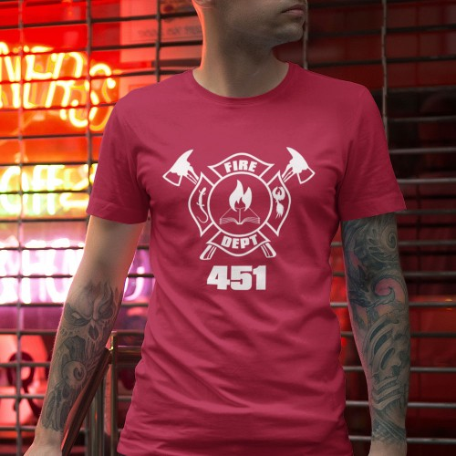 6e5b552c Fahrenheit 451 T-Shirt | RedMolotov