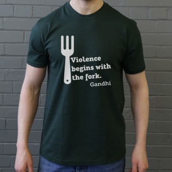 "Gandhi ""Violence"" Quote T-Shirt"