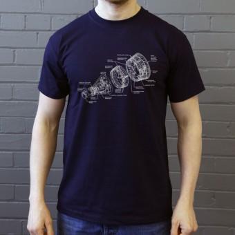 Gemini Spacecraft Diagram T-Shirt