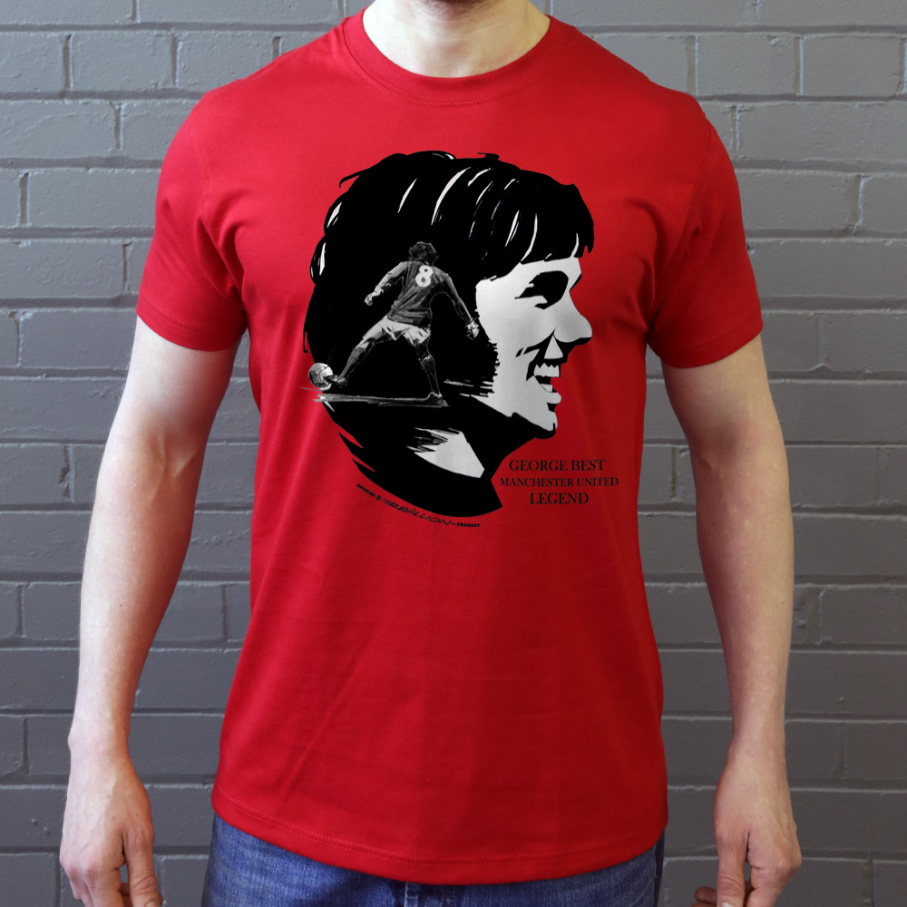 MANCHESTER UNITED GEORGE BEST T-SHIRT GREY