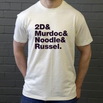 Gorillaz Line-Up T-Shirt