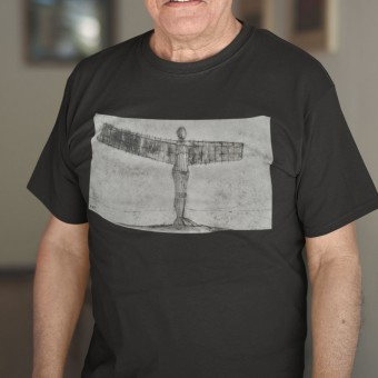 The Angel Of The North In All Weather by Hadrian Richards T-Shirt