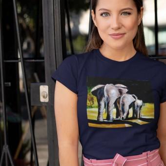 Morning Stroll by Hadrian Richards T-Shirt