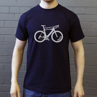 Happiness Is Racing Bike Shaped T-Shirt