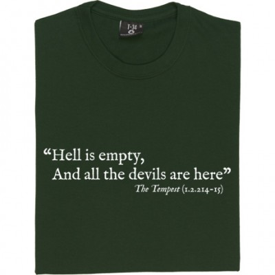 "Shakespeare ""Hell Is Empty"" Quote"