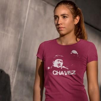 Hugo Chavez: White Print T-Shirt