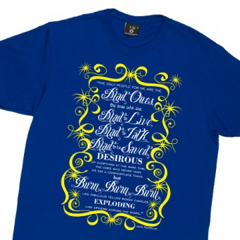 "Jack Kerouac ""Mad Ones"" Quote T-Shirt"