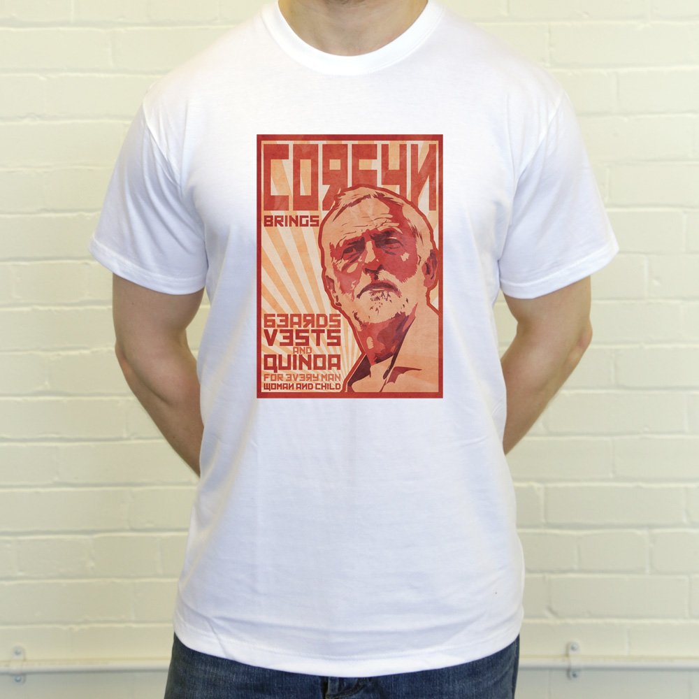 6e846d32c4 Jeremy Corbyn Poster T-Shirt | RedMolotov