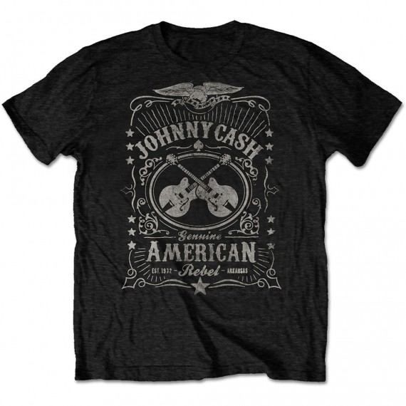 """Johnny Cash """"American Rebel"""" Officially Licenced T-Shirt"""