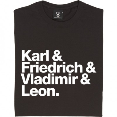 Karl and Friedrich and Vladimir and Leon